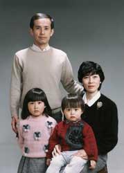1989年家族記念写真
