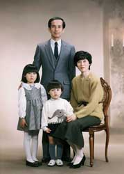 1990年家族記念写真