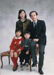 1992年家族記念写真