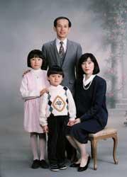 1993年家族記念写真